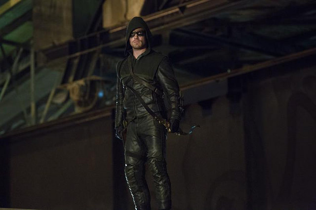 green arrow looking out-header