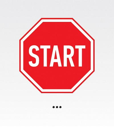 information overload in fitness- start sign