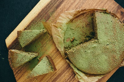 stop chronic dieting- Homemade Green Tea Cake
